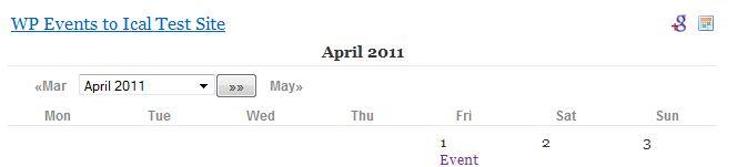 Calendar Header with calendar properties