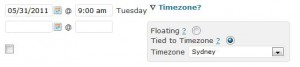 Optional: Specifying a event timezone, or a floating time